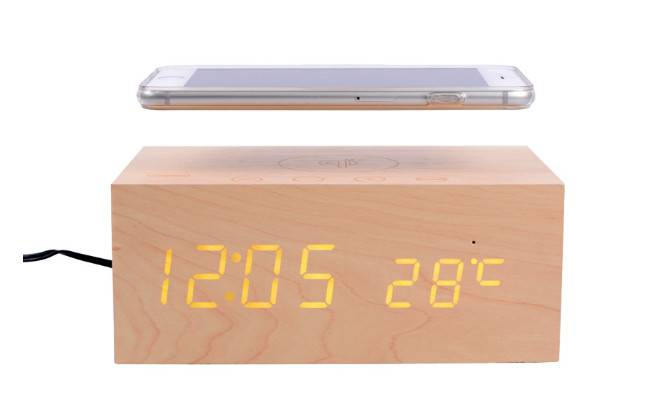 Computer Bluetooth Speaker Consumer Electronics Charger and LED Wood Clock