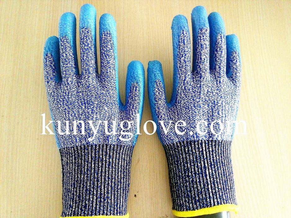 HPPE Palm PU Coated Working Safety Cut Resistant Gloves