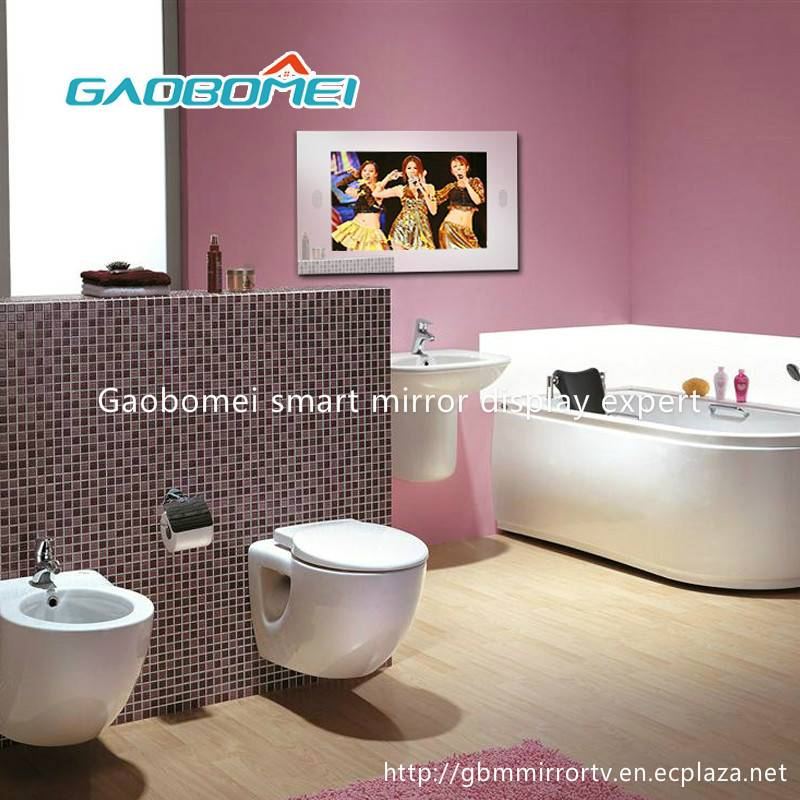 """Gaobomei 24"""" AD Smart Mirror running android os magic mirror with ad management software/wifi"""