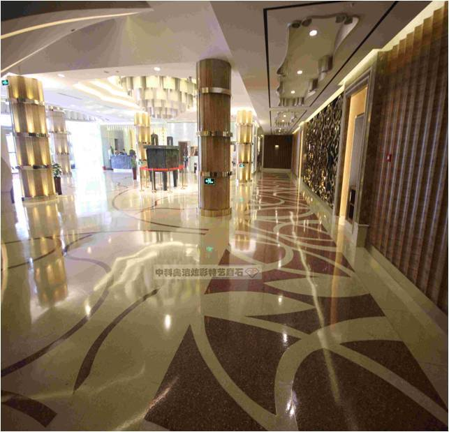 Decorative CSA cementitious self-leveling material