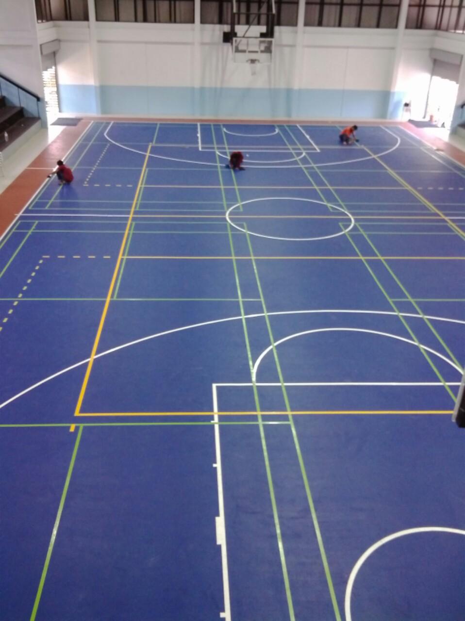 Pu/Acrylic Outdoor Basketball Sport Flooring System Field