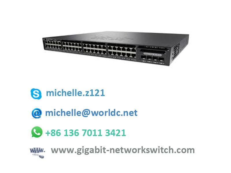 WS-C2960X-48FPS-L 48 10/100/1000 Ethernet Ports LAN Base POE switch