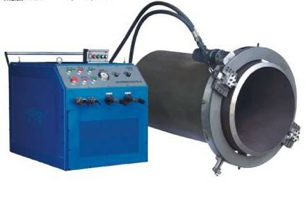 hydraulic pipe cutting and beveling machine