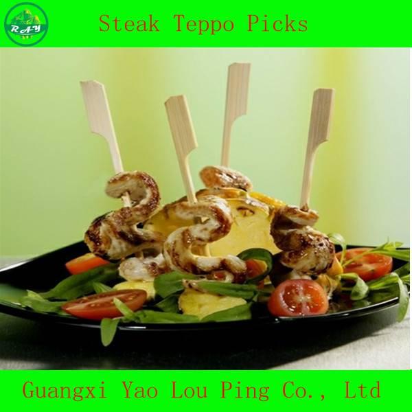 Wholesale Competitive Price Meat Teppo Skewer/Knife Skewer/Gun Skewer