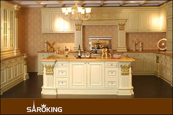 High quality Amreican Oak wood kitchen cabinets
