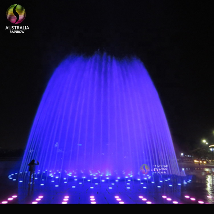 Outdoor Best Selling Interactive LED Dancing Floor Water Fountain for Children