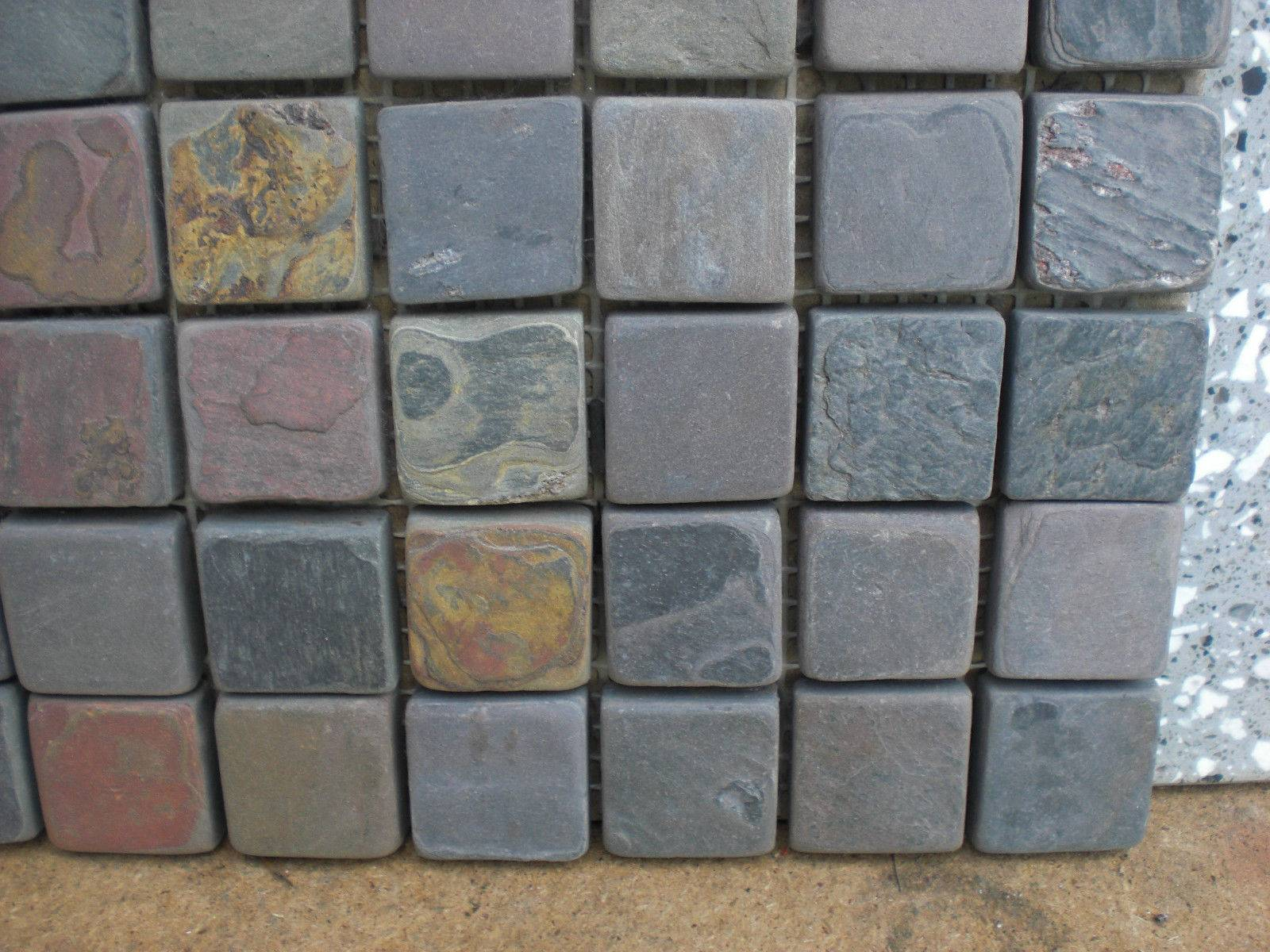 Natural slate stone flooring and wall tiles for garden or square