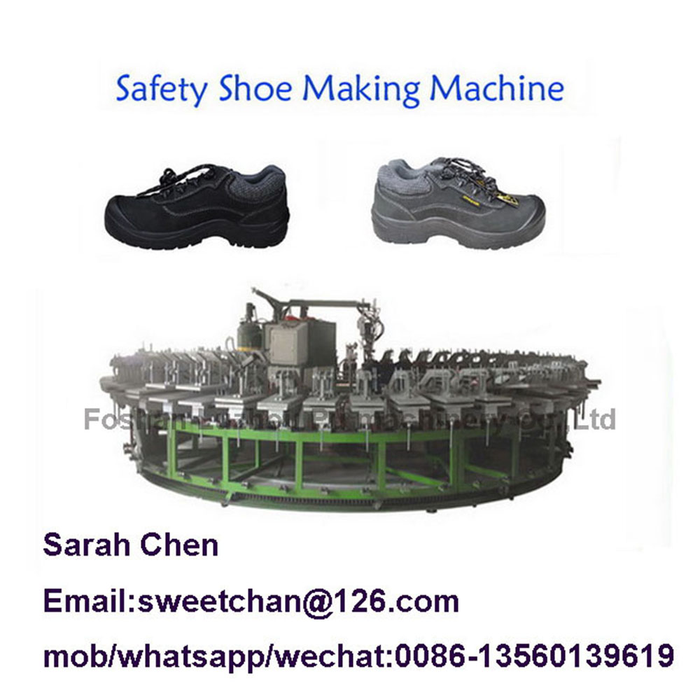Safety shoes producing machine/pu outsole pouring machine