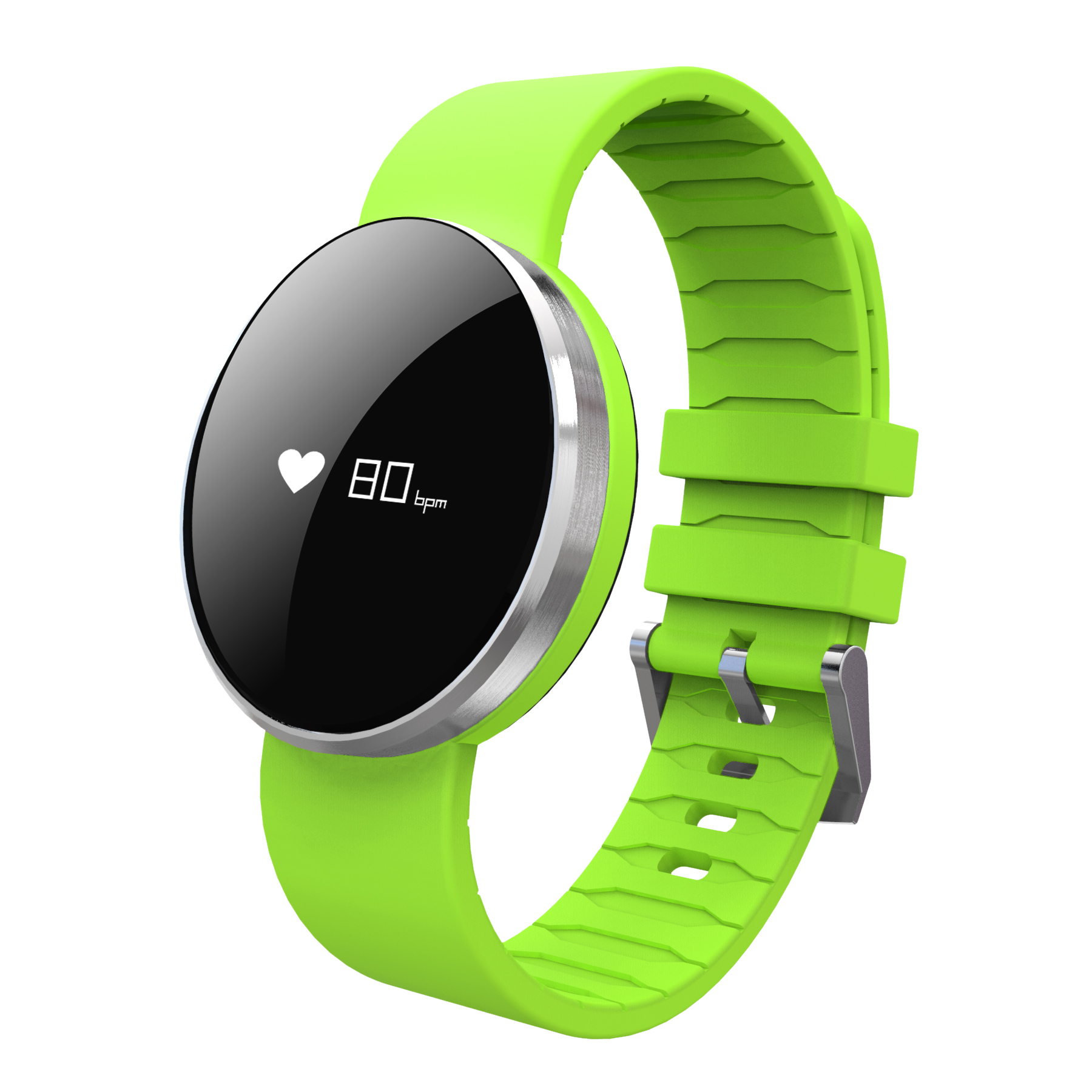 0.66inch screen smart watch with LED light Health data sync function bluetooth watch