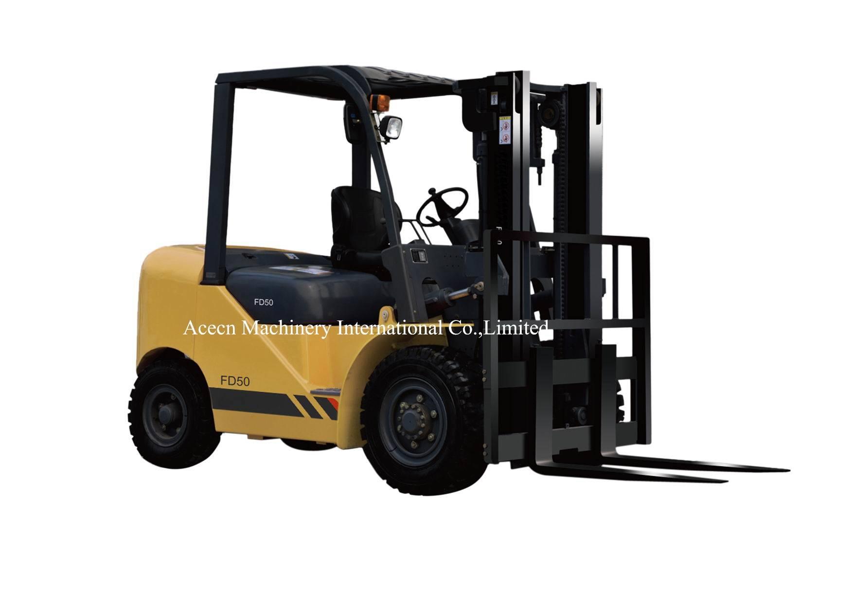5.0T Diesel Forklift with Optional Isuzu 6BG1 Engine