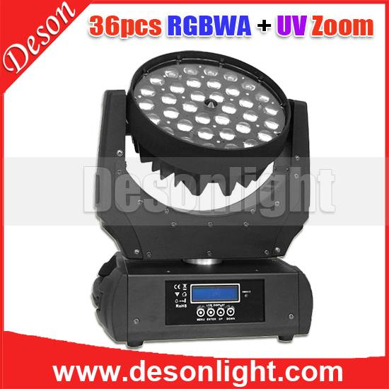 36pcs 10W / 15w 4in1,5in1,6in1 led zoom moving head LM-023B