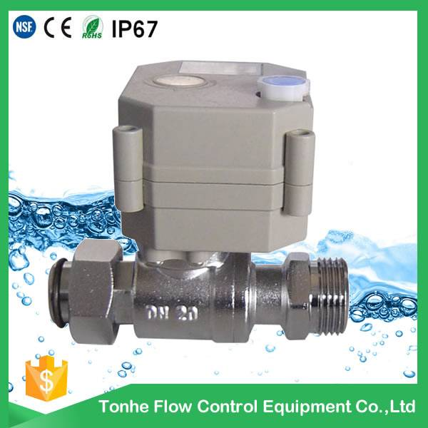 2016 OEM DN20 nickel plated brass motorized ball valve pn20 cw617n wholesale