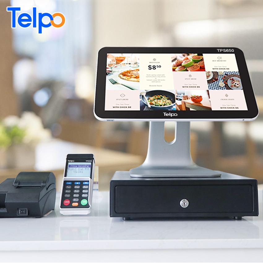 Telpo TPS685 LED customer display computer cash register metal ecr for business