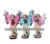 Retro 3d sexy fairy girl 3color resin fairy figurines