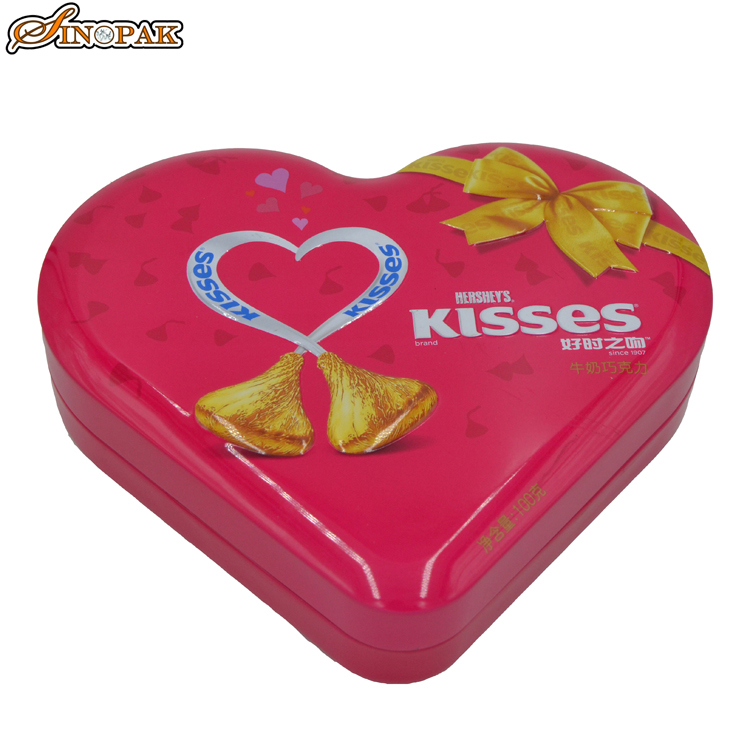 Elegant appearance chocolate decorative tins wholesale heart shaped gift boxes
