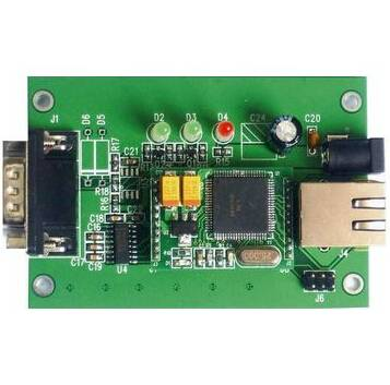 Electronic circuit board assembly with FR4 double-sided board