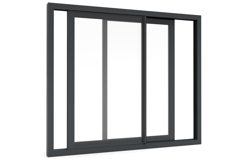 Slide Gray Aluminum Windows In Pakistan Factory