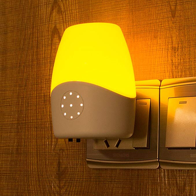 OTOFN Intelligent voice control light control induction lamp LED night light plug-in bedside lamp
