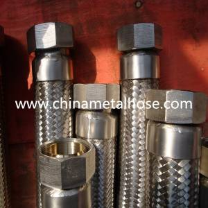 high temperature stainless steel 304 flexible metal hose with flange