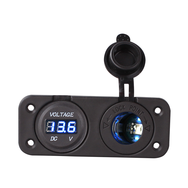 Blue Led Dual 12v Car Cigarette Lighter Socket Splitter 12v USB 3.1A Power Adapter Charger Digital
