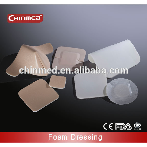 disposable surgical self-adhesive foam wound dressing