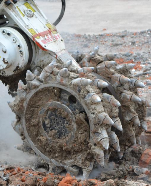drum cutter for excavator attachment
