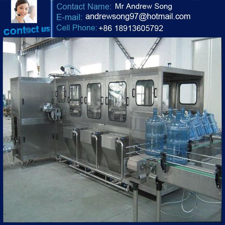 5 gallon bottle water production plant / 19L water bottling line