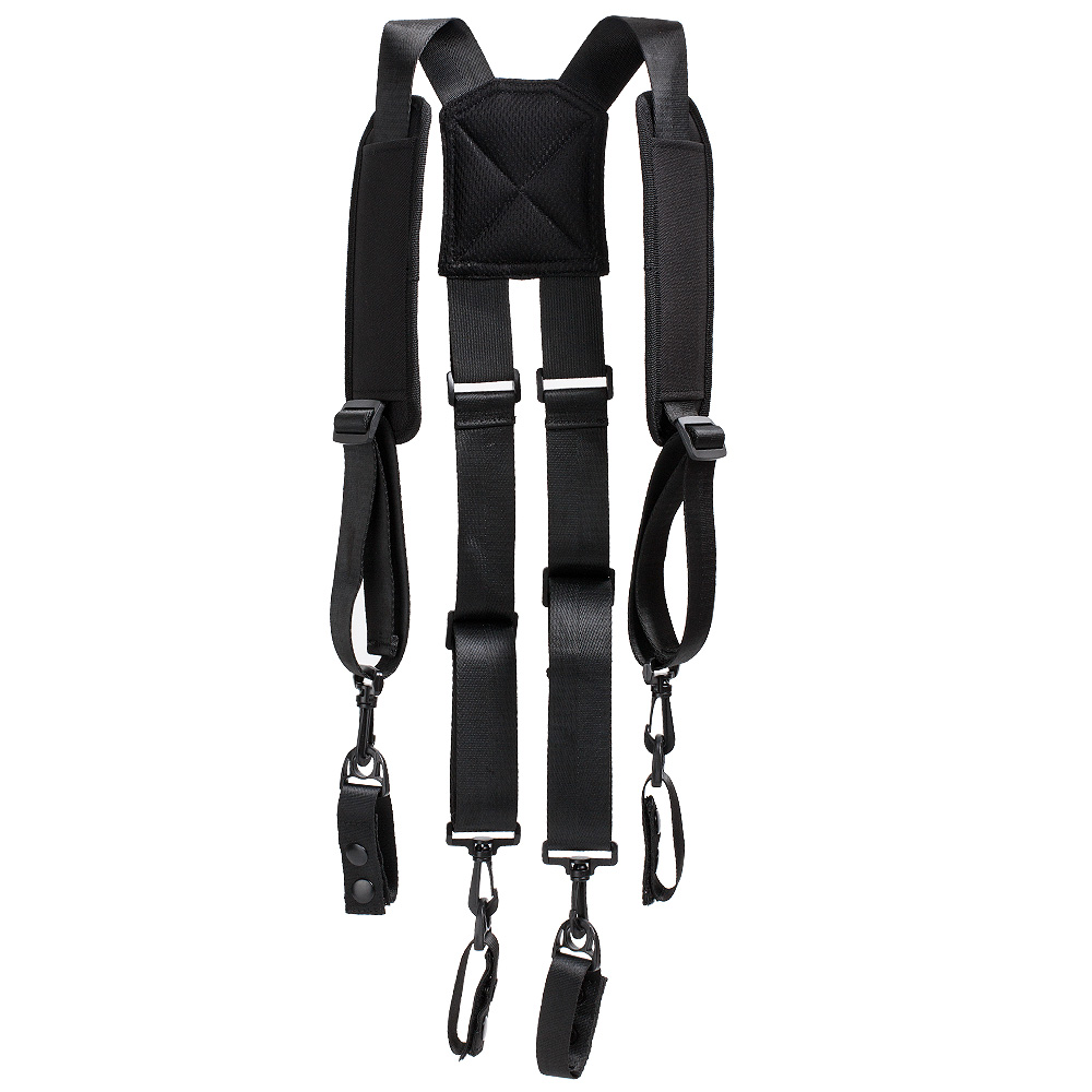 Police Tactical Suspenders for Duty belt Men Padded adjustable tool belt tactical military belt