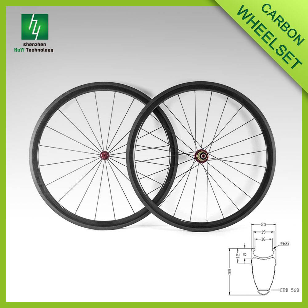 700C Carbon bicycle wheelset 38mm Clincher wheels 23mm width