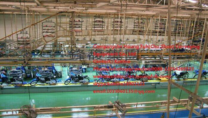 Suspension chain conveyor