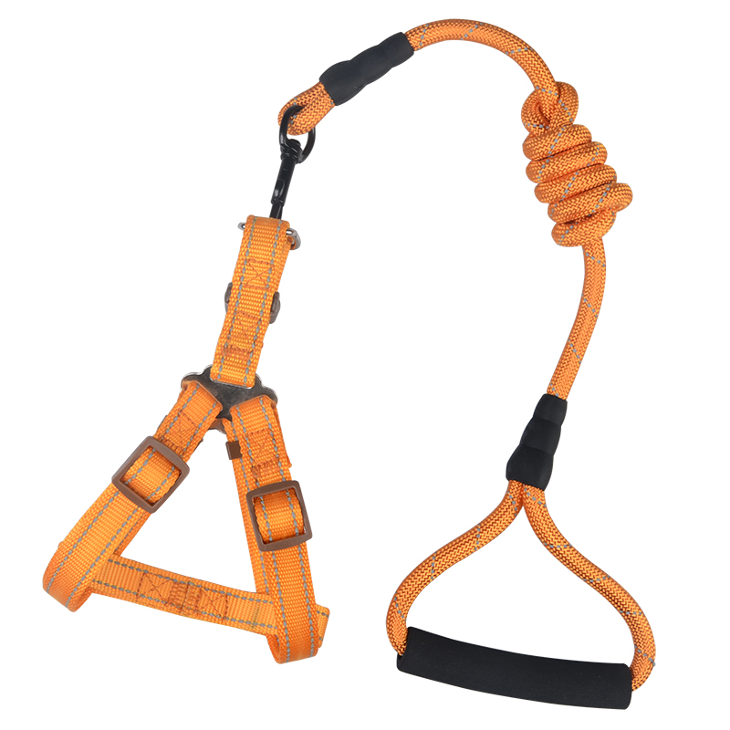 Pet set products with reflective or without reflective rope dog lead and dog harness
