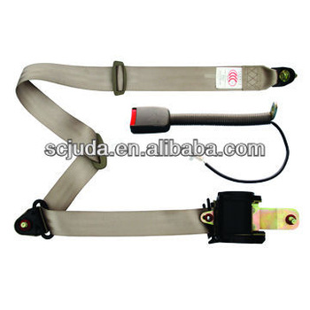 Emergency locking 3 points seat belts with sensor