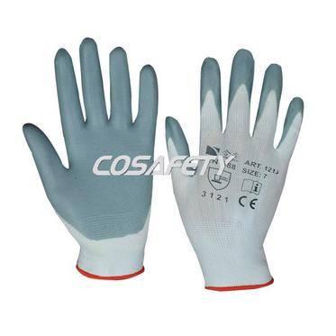 Grey Foam Nitrile Coated Gloves