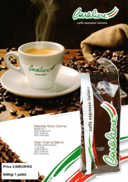 Italian coffee brand CAVALIERE