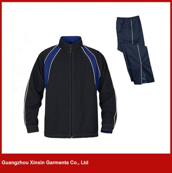 Cheap blue and black men training wear warm up training custom tracksuit