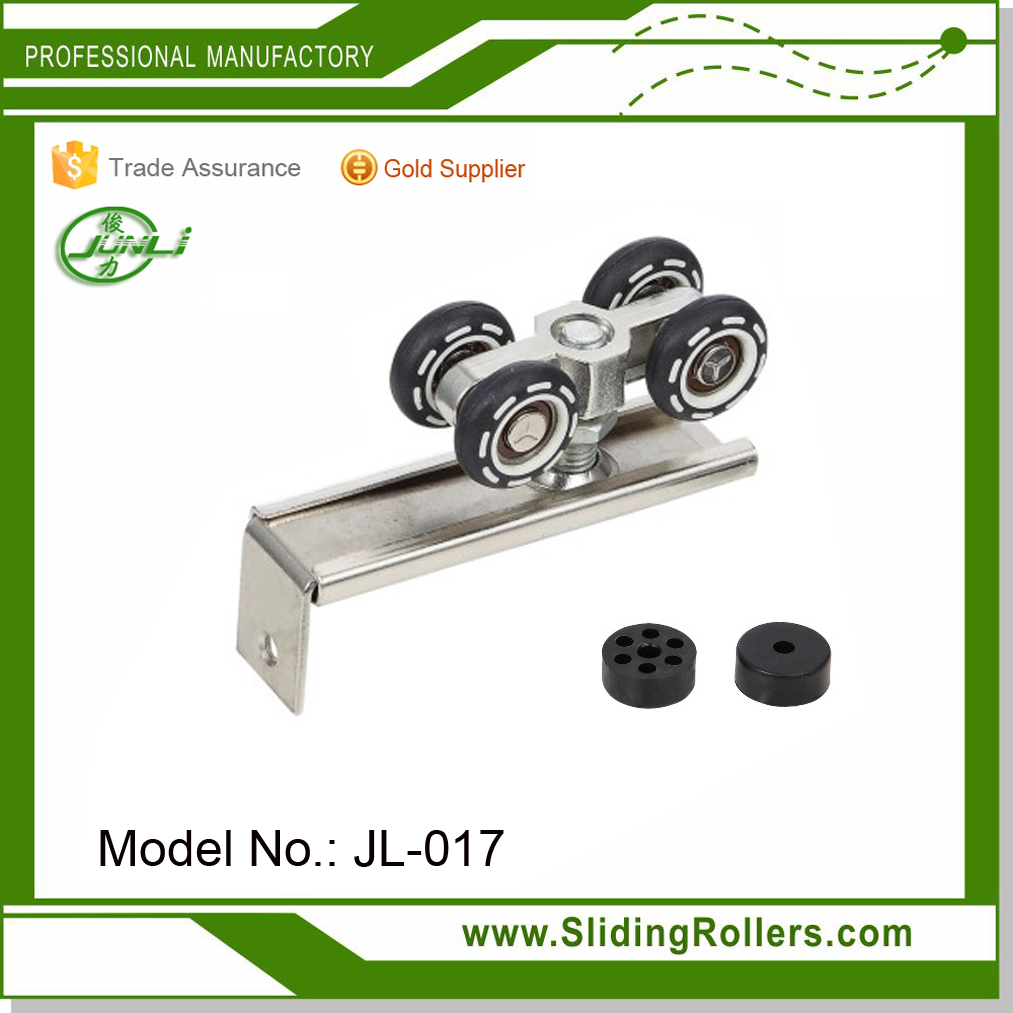 Four Wheels Wooden Sliding Door Roller