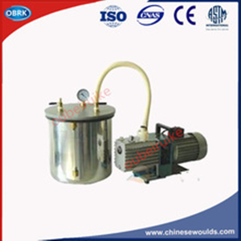 30cm x1.5mm Stainless Steel Vacuum Saturation Cylinder Device With 1L Pump