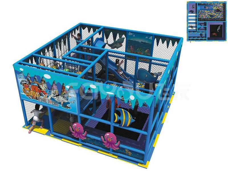 Kids plastic naughty castle cheap indoor playground equipment