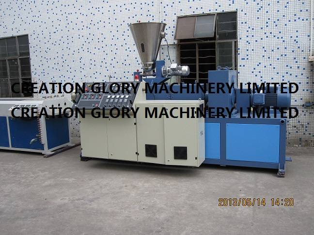 High quality conical twin screw plastic extruder machine