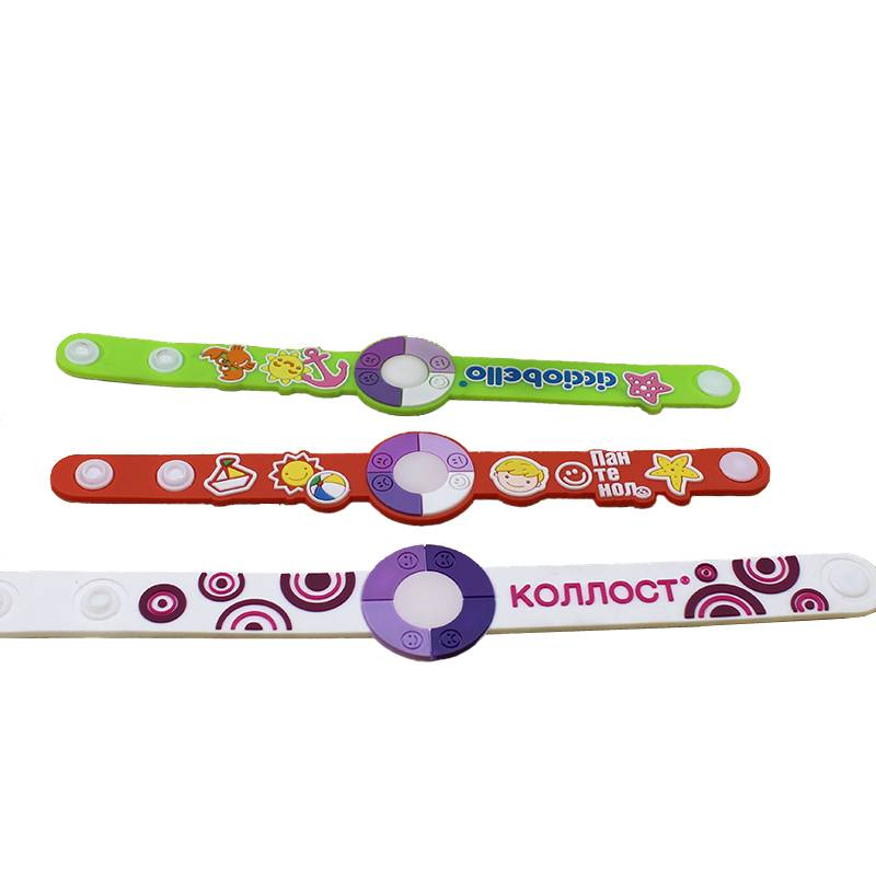 different size uv bracelet pvc wristband
