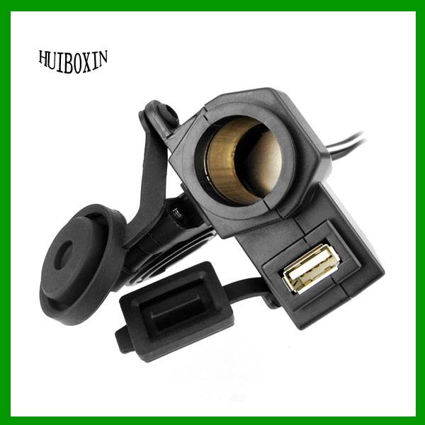 Motorcycle Waterproof 2.1A USB Phone Charger Cigarette Lighter Power Socket