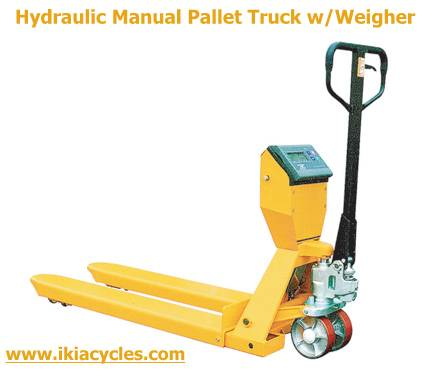 hydraulic pallet truck with scale