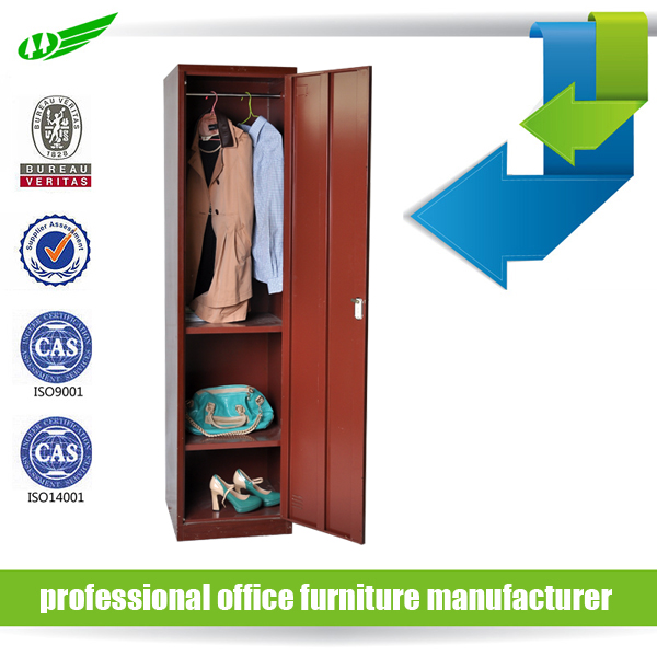 cheap price metal furniture red lockers for hanging clothes