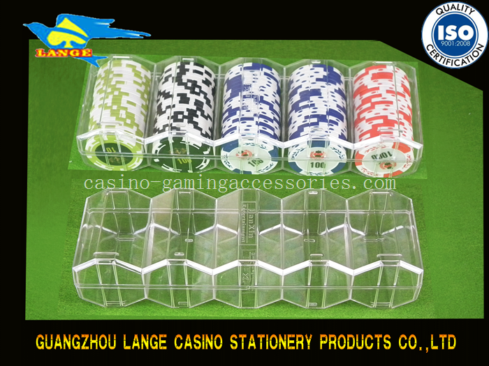 Acrylic poker chips token 100pcs poker chips rake for 40/43/45mm poker chips