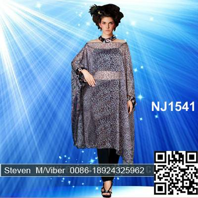 Latest Leopard Fancy Africa Sport Kaftan Abaya Dresses