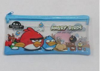 Cartoon pattern custom pvc pencil bag for kids