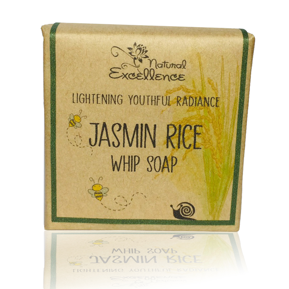 Natural Excellence Jasmin RiceWhip Soap Bar Bubble Foam 110G Packaging Natural Paper Bubble Bag