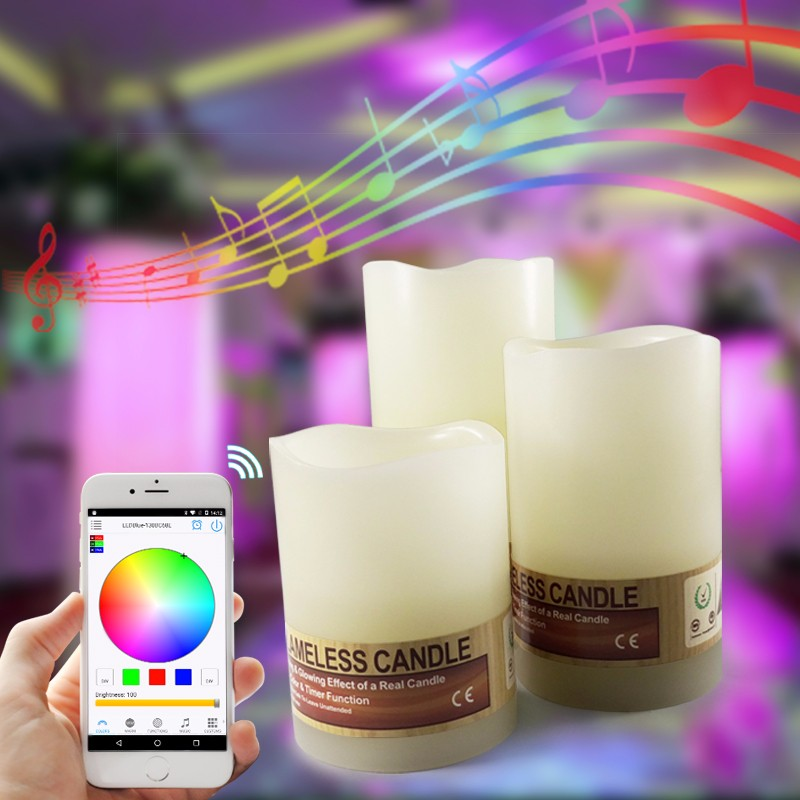 Wireless Lighting Control Bluetooth Freeapp LED Candle