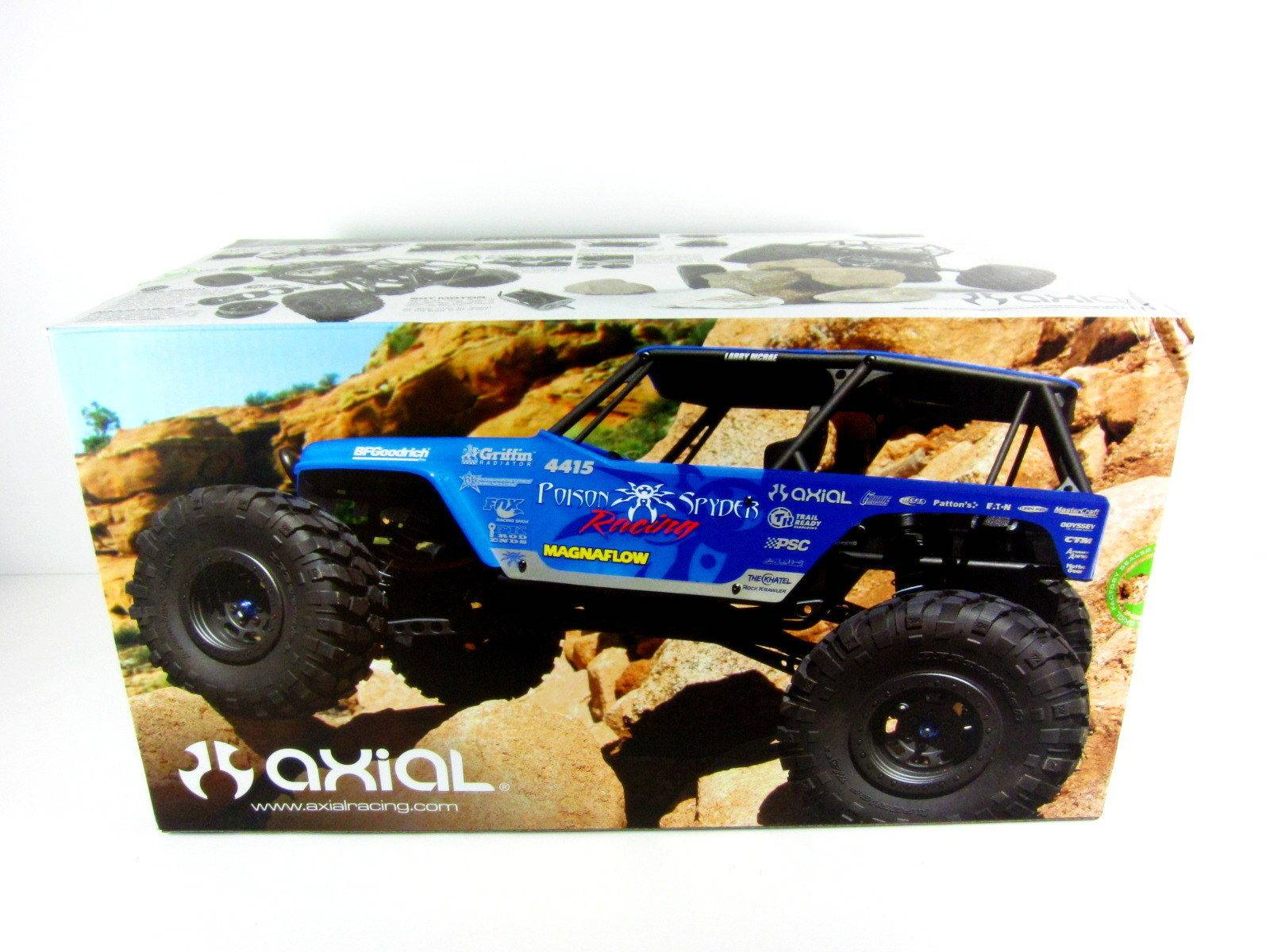 New Axial 1/10 Wraith Jeep Wrangler Poison Spyder 4WD RTR RC Rock Crawler AXIAX90031