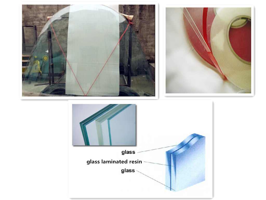 SAOSA cast in place resin for curved laminated glass with high durability
